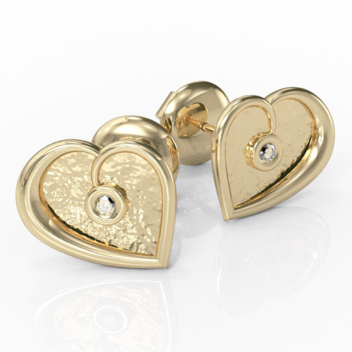Diamond Heart Earrings (RL-E-02)