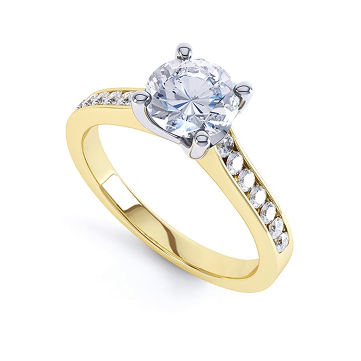 (RL-G-16) Four Claw Single Stone Diamond Ring
