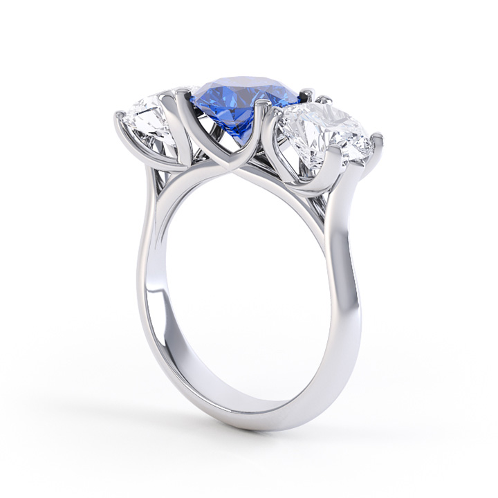 Platinum Three Stone Ring (RL-G-48)