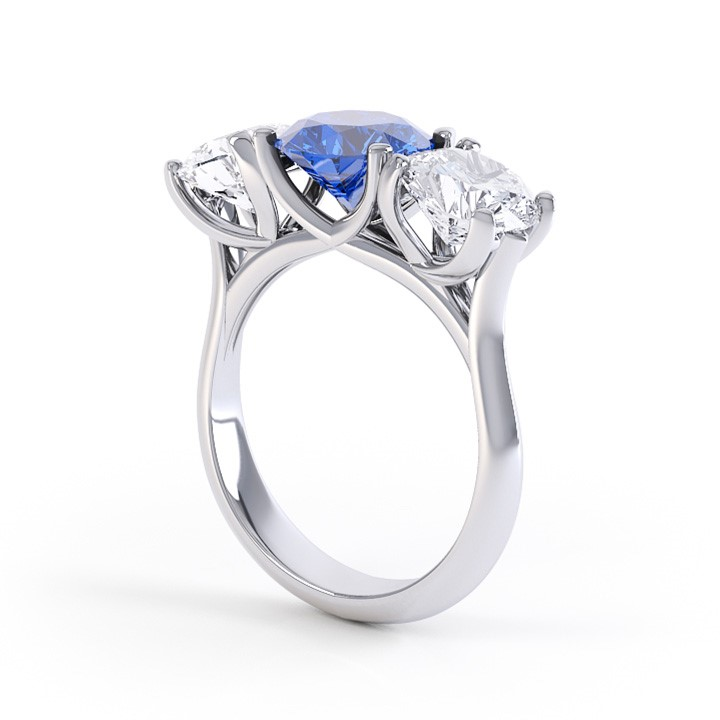 (RL-G-48) Platinum Three Stone Ring