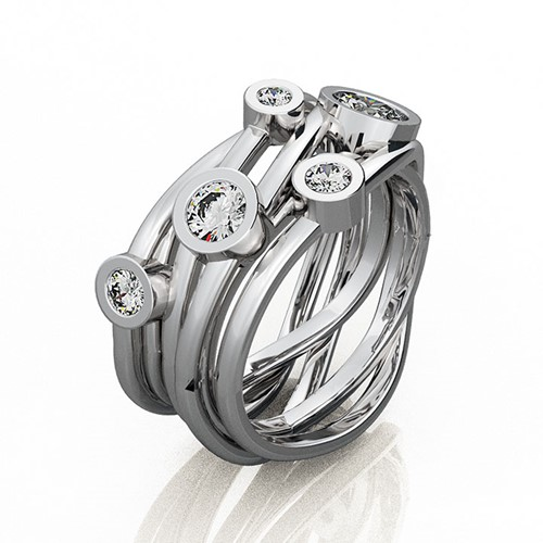 Platinum Bird's Nest Ring (RL-G-97)
