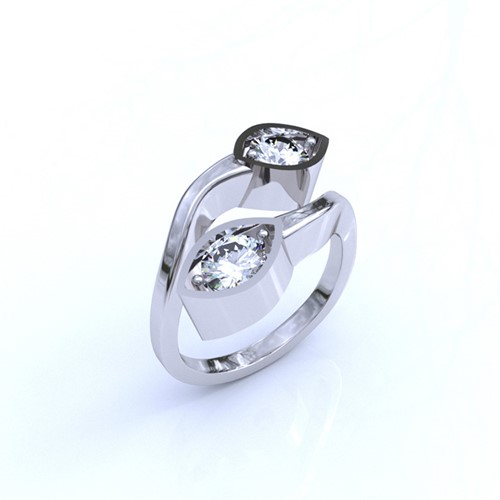 Platinum and Diamond Organic Ring (RL-G-100)