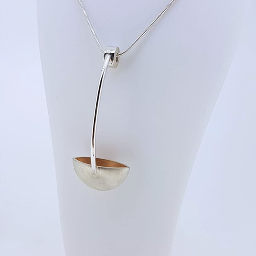 Sterling Silver & Red Gold Plate Pendant (RLL-IP4-RP)