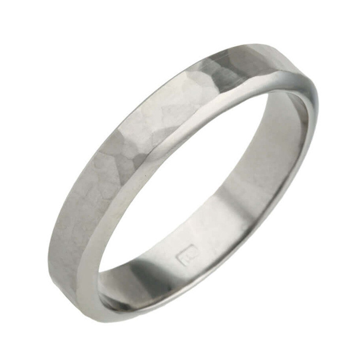 Planished Texture 6mm Titanium Ring (PD-TLR866)