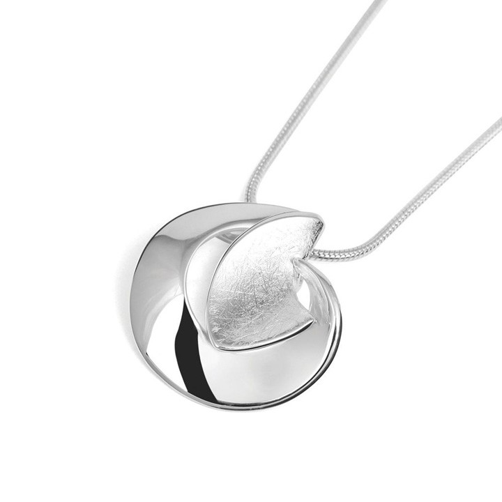 (BA-TP6328) Sculputural Sterling Silver Pendant