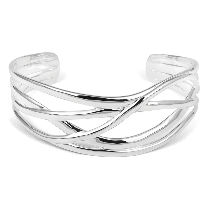 Sterling Silver Torc Bangle (BA-TBL126)