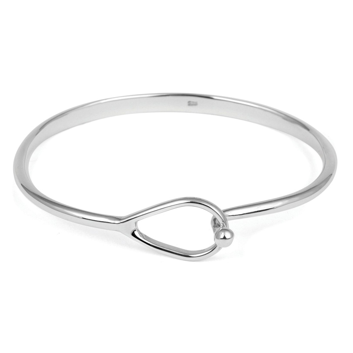 Sterling Silver Clasp Bangle (BA-CB0525)